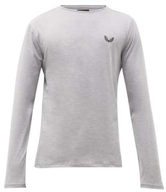 Castore - Aitkins Logo-print Ventilated Long-sleeved T-shirt - Mens - Grey