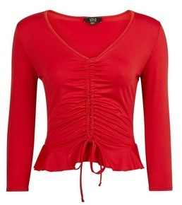 Dorothy Perkins Womens Lola Skye Red Channel Top, Red