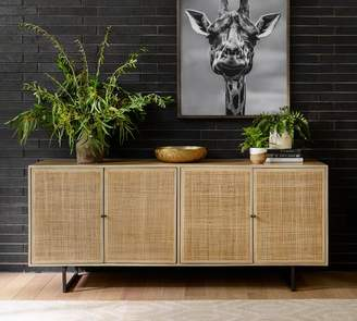 Pottery Barn Dolores Cane Buffet