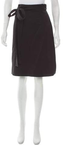 Celine Wool Wrap Skirt