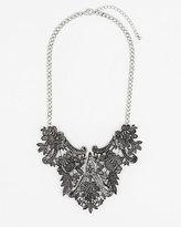 Le Château Metal Filigree Bib Necklace