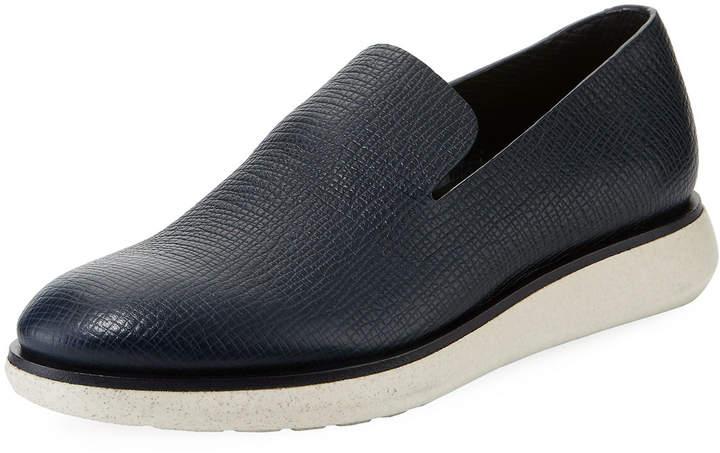 Giorgio Armani Men's Textured Slip-On Sneakers