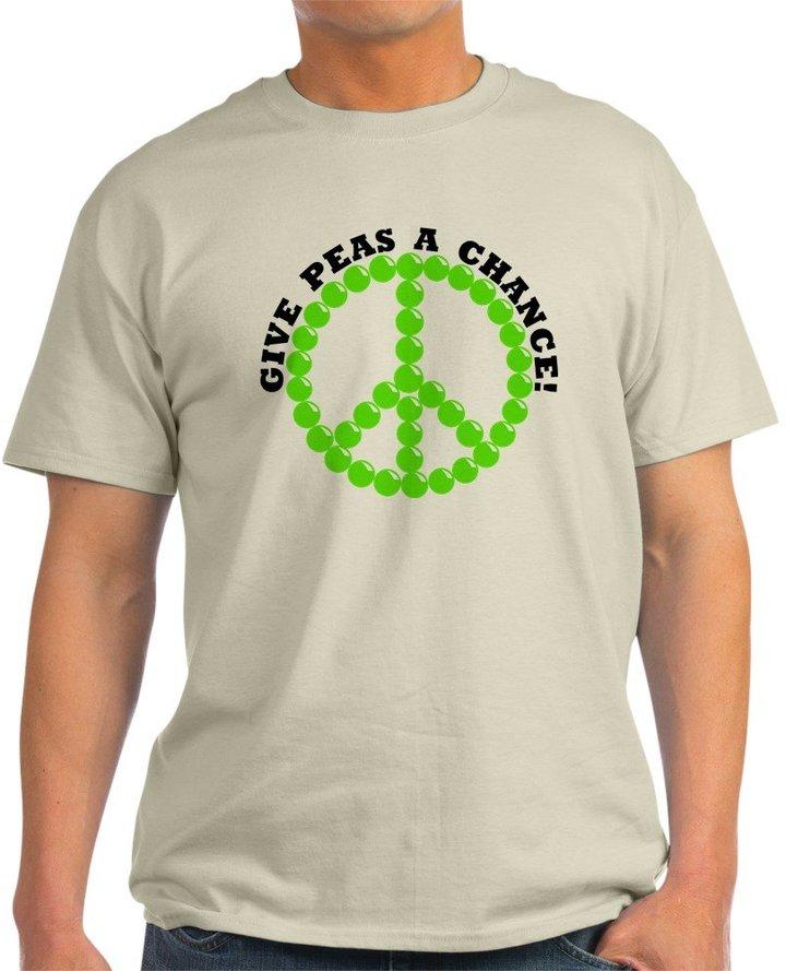 CafePress - Give Peas A Chance - 100% Cotton T-Shirt
