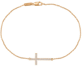 Nephora 14K 0.19 Ct. Tw. Diamond Cross Bracelet