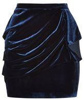 Pinko Fandango Draped Velvet Skirt