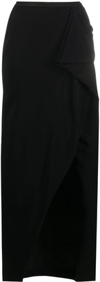 Rick Owens High-Waisted Wrap Skirt