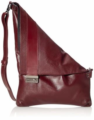 LILIMILL Piega Alce Bordo Womens Shoulder Bag Violett (Bordo) 33x0 5x31 cm (B x H T)