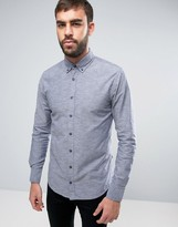 BOSS ORANGE by Hugo Boss Buttondown Shirt Slim Fit 2 Color Weave in Navy