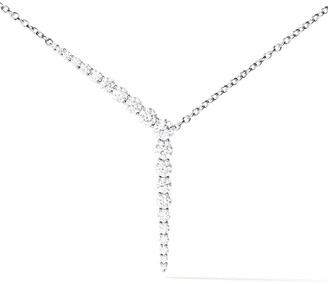 Melissa Kaye 18kt white gold and diamond Aria Y necklace