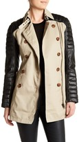 W118 by Walter Baker Keanu Faux Leather Trench Coat