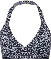 Herve Leger Jacquard-knit bandage triangle bikini top