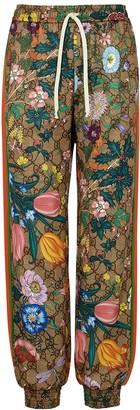 Gucci GG Flora Printed Jersey Sweatpants