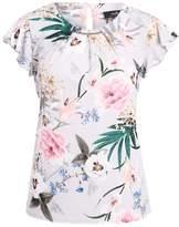 Wallis BLOSSOM BAR Print Tshirt silver