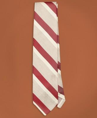 Brooks Brothers Golden Fleece Striped Silk-Linen Tie