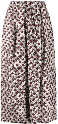 Christian Wijnants mosaic print A-line skirt