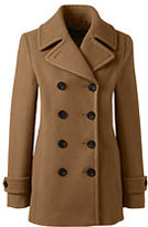 Classic Women's Plus Size Wool Peacoat-Gemstone Teal