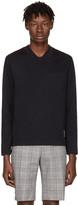Thom Browne Navy Trompe L'Oeil Polo T-Shirt