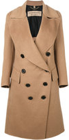 Burberry draped front tailored coat