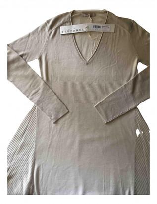 Stefanel Beige Cashmere Dresses