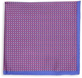 Saks Fifth Avenue Geometric-Print Silk Pocket Square