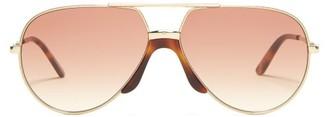Gucci Aviator Metal Sunglasses - Womens - Brown Multi