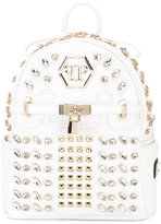 Philipp Plein embellished backpack - women - Polyurethane/glass/metal/PVC - One Size