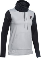 Under Armour Women's Heathered Gray/Black Atlanta Falcons Combine Authentic French Terry Cowl Neck Sweatshirt