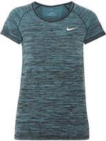 Nike Paneled Dri-fit Stretch T-shirt - Petrol