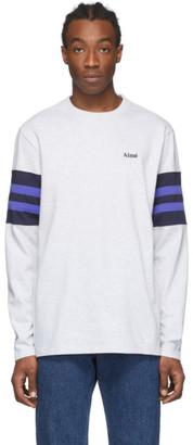 Aimé Leon Dore Grey Collegiate Long Sleeve T-Shirt