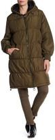 Topshop Eric Long Puffer Jacket