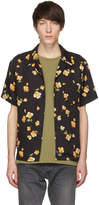 John Elliott Black Poppy Bowling Shirt