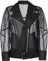 Le Ciel Bleu oversized lace jacket