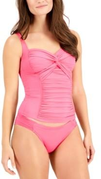 La Blanca Island Goddess Ruched-Side Hipster Bikini Bottoms Women's Swimsuit