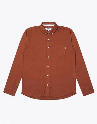 Wemoto Auburn Melange Shaw Mel Button Down Shirt - S