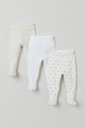 H&M 3-pack Pants - White