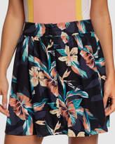 Roxy Womens Shallow End Buttoned Skirt