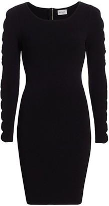 Milly Scalloped Cut-Out Knit Bodycon Dress