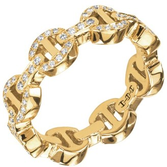 Hoorsenbuhs Heritage Dame Tri-Link 18K Yellow Gold & Diamond Ring