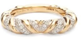 Yvonne Léon Heart Alliance Diamond & 18kt Gold Ring - Yellow Gold