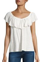 Rebecca Taylor On & Off-the-Shoulder Jersey Top