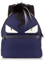 Fendi Bag Bugs Nylon And Fur Backpack