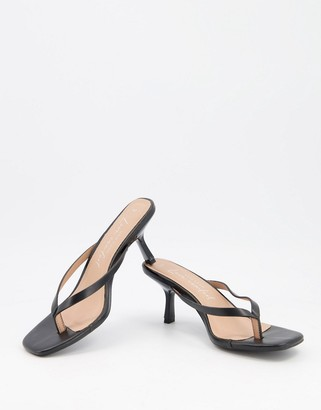 New Look strappy heeled sandals in black