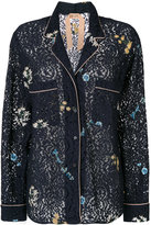 No.21 embroidered lace shirt