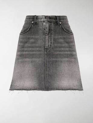 Saint Laurent Faded Denim Miniskirt