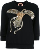 No.21 sequined sweatshirt - women - Cotton/Polyester/PVC/glass - 42