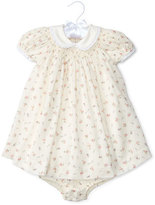 Ralph Lauren Ribbed Floral Shift Dress w/ Bloomers, White/Pink, Size 6-24 Months