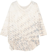 Raquel Allegra Tie-dyed Cotton-blend Jersey Top - Cream