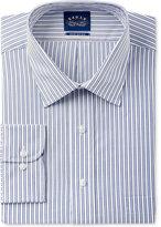 Eagle Men's Big and Tall Fit Non-Iron Flex Collar Blue Striped Dress Shirt
