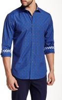 James Tattersall Barnet Jacquard Plaid Long Sleeve Modern Fit Shirt