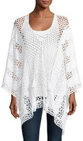 XCVI Lace Embroidered Voile Poncho